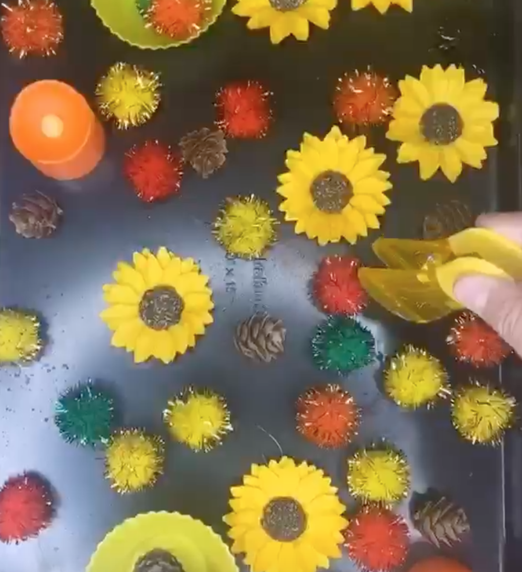 Fall Sensory Trays!